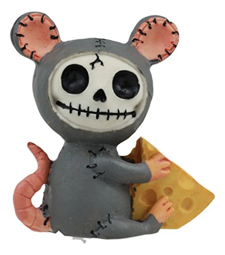 Furrybones Ebros Voodoo Mouse with Muenster Cheese Skeleton Figurine Collectible 2.5