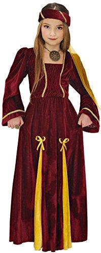 Widmann 12538 Costume de princesse médiévale, taille 11-13 ans