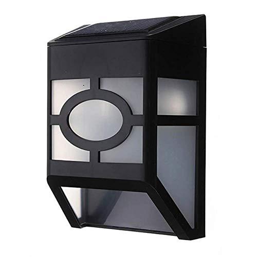 L-YINGZON Luz de la pared ópticamente controlado, energía solar IP65 2 LED jardín al aire libre luz de la pared la luz Lámpara de interior decorativo