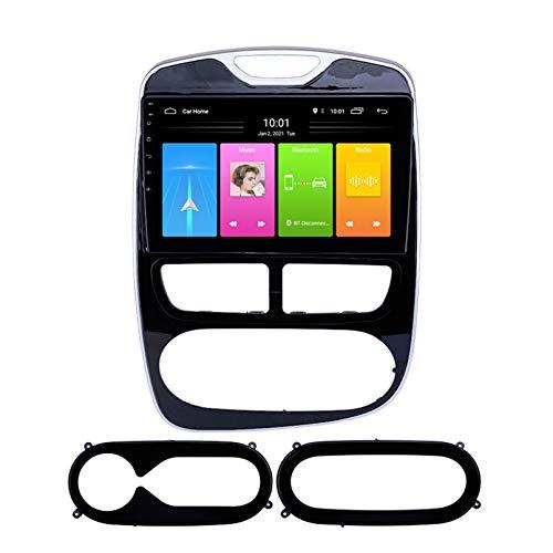 Android Autoradio Radio Double DIN Sat Nav para Renault Clio 2012-2016 Navegación GPS 2.5D Pantalla Táctil Reproductor Multimedia FM Am DVD Video Receiver(Color:4G+WiFi 2G+32G)