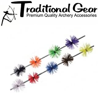 Archery 2 Pair - Whisker Rubber Bowstring Bow String SILENCERS 4 Pc. Pack - 11 HOT Colors !