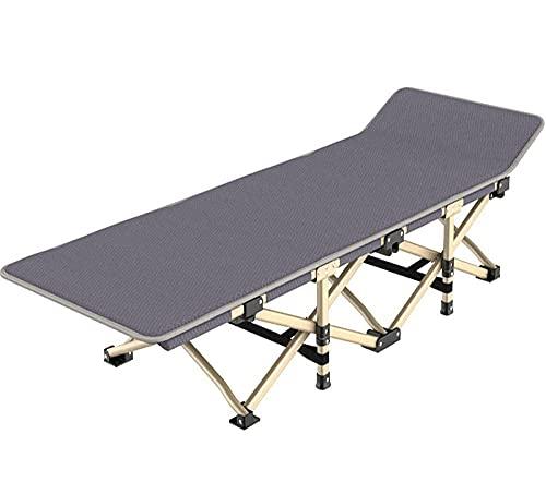 WGFGXQ Garden Chairs,Portable Folding Sun Lounger, Folding Camp Bed Su Lounger, Foldable Reclineing Sunbed, Lightweight Camping Bed for Adults for Outdoor Garden-Gray_190X37X36Cm