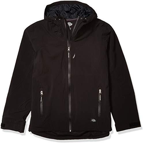 Dickies Men's Performance Waterproof Breathable Jacket with Hood, Black, X-Large