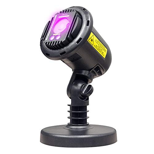 BlissLights Purple Laser Projector w/ 16 Color LED - Indoor/Outdoor Home Landscaping Lights for Holidays, Events, Parties