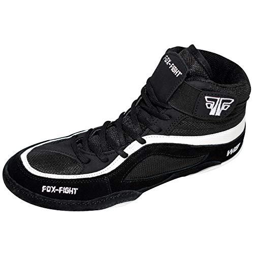 FOX-FIGHT W8 Ringer Wrestling Schuhe aus Wildleder Professionelle Hochwertige Qualität 40 schwarz