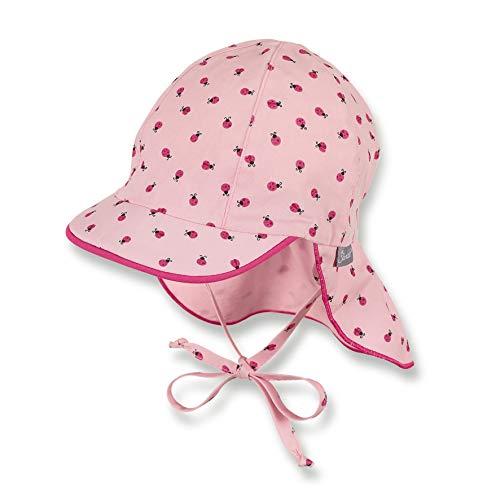 Sterntaler Sterntaler Schirmmütze für Mädchen mit Bindebändern und Nackenschutz, Alter: 9-12 Monate, Größe: 47, Rosa (Mandelblüte)