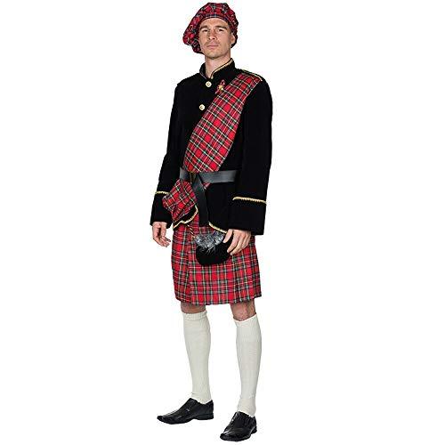 Schotte Erwachsenenkostüm 14472 | 5-Teiliges Schottenkostüm mit Jacke & Schottenrock | Herren Kostüm Schotte (60)