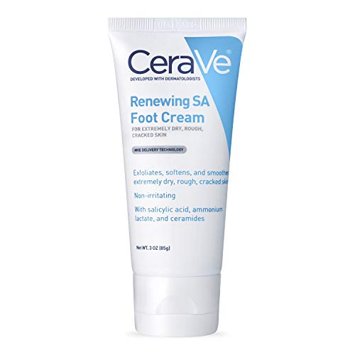 CeraVe Foot Cream with Salicylic Acid | 3 Ounce | Foot Cream for Dry Cracked Feet | Fragrance...