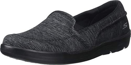Skechers Women's ON-The-GO BLISS-16521 Loafer, Black/Gray, 5.5 M US