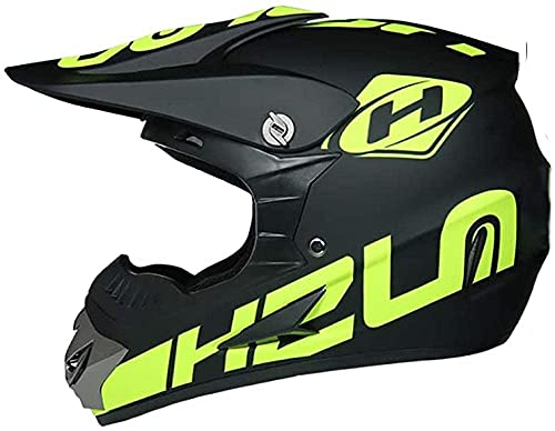Motocross Protective Full-Face Helmets with Goggles Gloves Mask DOT Approved Off-Road Motorbike Crash Helmet for Adult Boys and Girls Motorcycle MX MTB Road Racing Beach ATV Mountain Helmet,Large