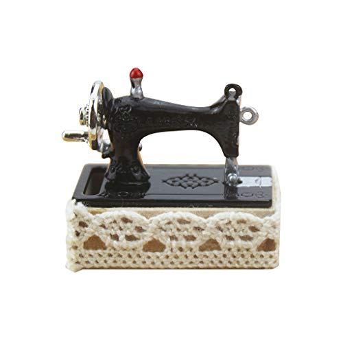 Coohole 1:12 Dollhouse Miniature Furniture Scene Model Sewing Machine Pretend Play Educational Toy Doll House Decoration Accessories Holiday Best Gift for Children Kids