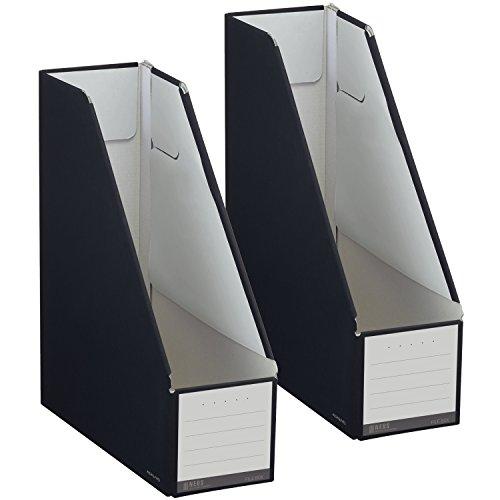 コクヨ ファイル ファイルボックス NEOS スタンドタイプ A4 2個セット ブラック フ-NEL450DX2
