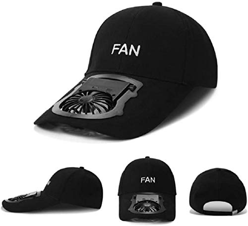 Usb Charging Fans Cooling Hat, Adjustable Angle Hand Fan Hat, Unisex Adjustable Fan Hat, Portable Sun Fan Hat For Camping Traveling Outdoor Party Summer Cooling Fan (black)