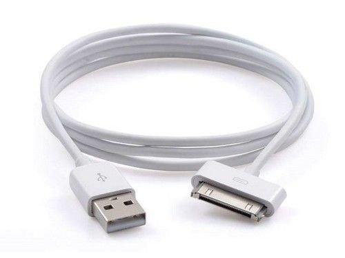 USB de Carga Cable de sincronización para iPhone 4, 4S, 3G, 3, iPad 3iPad 2USB Cargador de Plomo Cable USB Cargador Cable de sincronización para iPad 3iPad 2iPad 1Cable Blanco 1Meter Largo