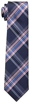 Dockers Big Boys  Plaid Necktie Navy/Pink One Size