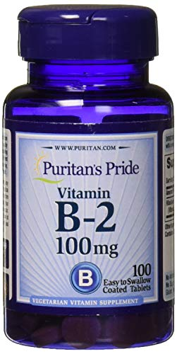 Puritans Pride Vitamin B-2 100 Mg Tablets, 100 Count