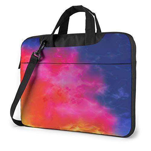 15.6″Lightweight Laptop Notebook Shoulder Backpack Bag Watercolor Cloud Waterproof PC Briefcase Messenger with Strap
