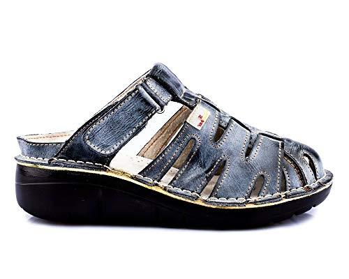TMA 8891 Damen Sandaletten Leder schwarz - EUR 39