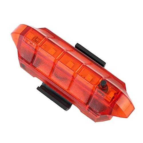 XIAOHUA-UK Luz Trasera, luz de Bicicleta Impermeable ultrabrillante, luz de Bicicleta Trasera LED USB Recargable, se Adapta a Cualquier Bicicleta de Carretera (Color : Red Light)