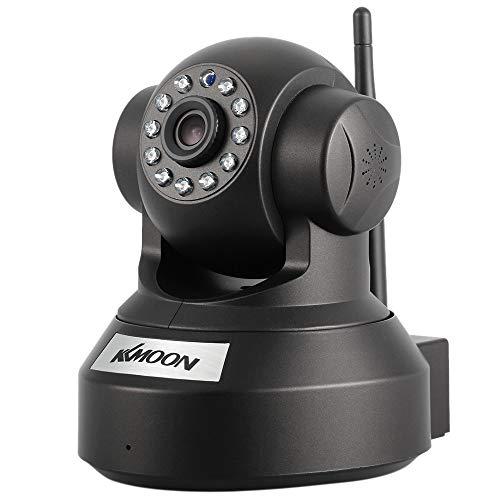 """KKmoon 720P HD Cámara IP de Vigilancia WiFi (H.264, 1MP, 1/4"""" CMOS, PnP P2P Ap, 2 Vías de Audio, ONVIF 2.0, IR-Cut,Control Remoto Pan/Tilt, Visión Nocturna, Detección de Movimiento)"""