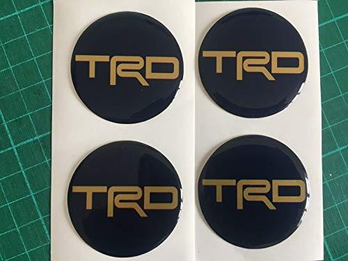 SCOOBY DESIGNS 4 pegatinas para Toyota TRD para centro de rueda de aleación, para SUPRA MR2, CELICA azul y dorado Motorsport (55 mm)
