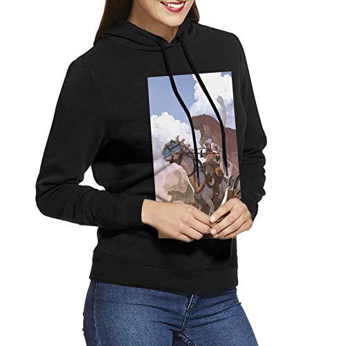 Damen Hoodie Mantel Ark Sur-Vival Evo-Lved Mode Casual Baumwolle Langarm Pullover SweatshirtSchwarz Gr. XX-Large, Schwarz