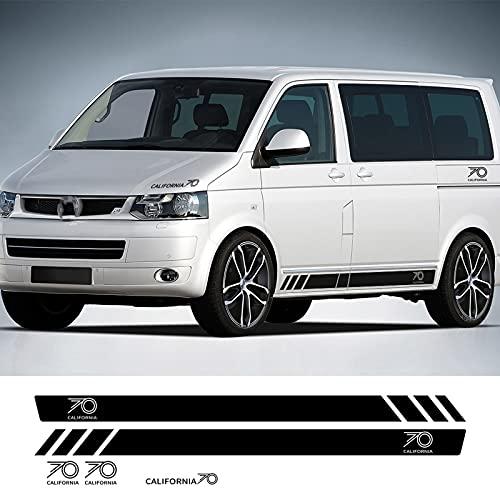 CGFZNUB Pegatinas de Rayas Laterales de Coche, para Volkswagen VW Multivan T5...