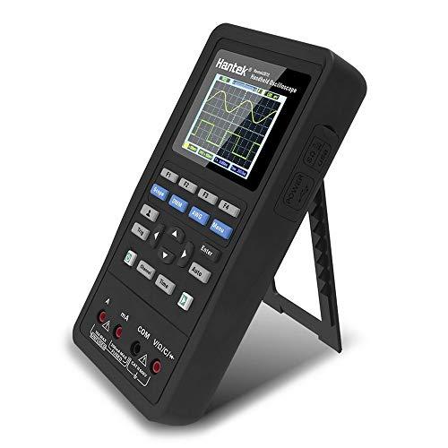 Hengyuanyi - Osciloscopio Digital de Mano 3 en 1 con Fuente de señal Hantek 2C42 portátil de 40 MHz Ancho de Banda 2 en 1