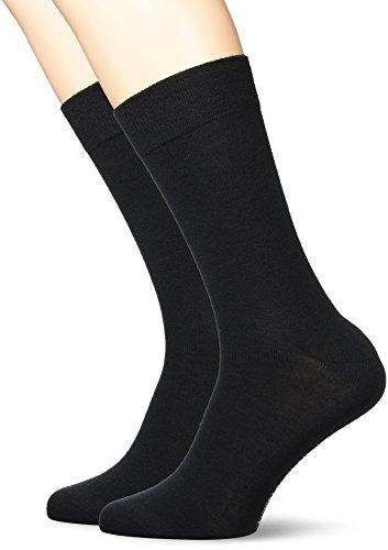KUNERT Herren Socken, 870400 Comfort Wool Doppelpack, Schwarz (Black 0070), 47/50