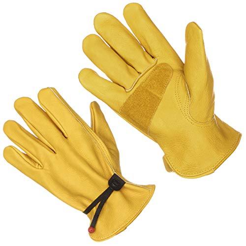guanti da lavoro in pelle Guanti da lavoro in pelle con chiusura regolabile all altezza del polso