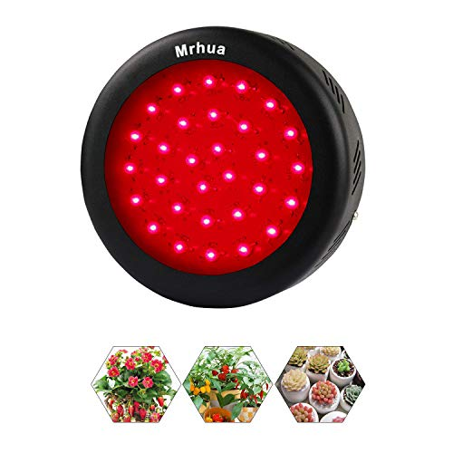 LED Grow Lights,Mrhua 150W UFO LED Indoor Patio Plants Grow Lamp with Full Deep Red Spectrum 660nm for Indoor Plant Flowering and Fruiting Enhancement