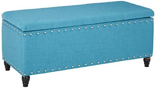 Christopher Knight Home Tatiana Fabric Storage Ottoman, Teal