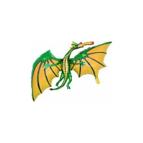 BALLOONSHOP 36 Pollici Drago Verde a Forma di Palloncino Foil - Aria o Elio