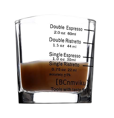 Shot Glasses Measuring cup 2018 Liquid Heavy Glass Wine Glass Espresso Shot Glass 26-Incremental Measurement 1 OZ 4 Features 45ML (Square-1pack)