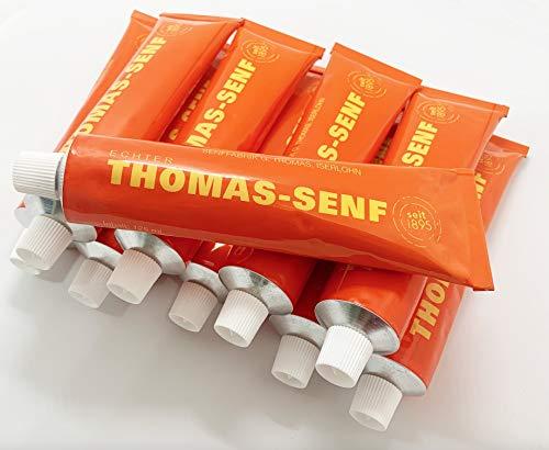 15 x 125ml Tube + T-Shirt - echter Iserlohner Thomas Senf - aus braunen & gelben Senfkörnern, grob vermahlen - Originalrezeptur von 1895 - Regionales Produkt