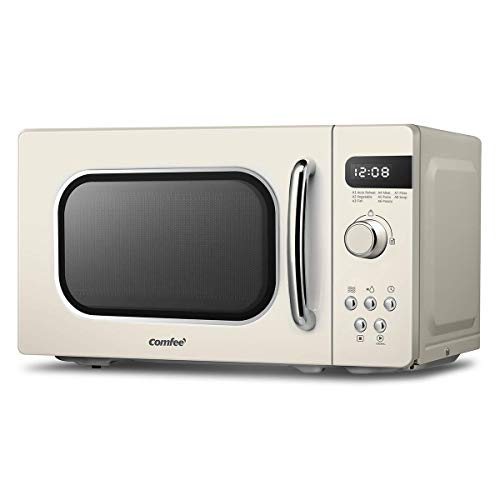 41QieiuRVqL. SS500  - COMFEE' Retro Style 800 w 20 L Microwave Oven with 8 Auto Menus, 5 Cooking Power Levels, and Express Cook Button…