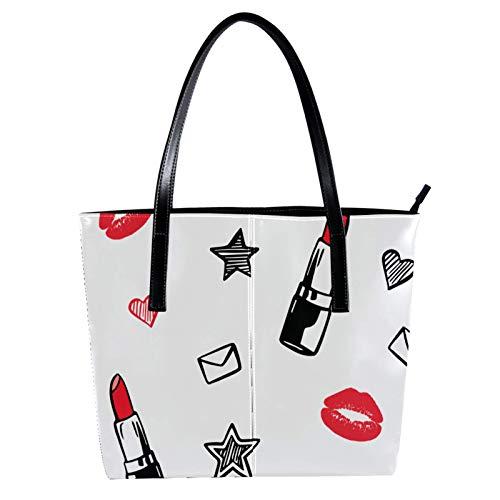 Thermo-Einkaufstasche für Lebensmitteleinkäufe Transport von kalten oder warmen Lebensmitteln wiederverwendbarer Umweltschutz mit großer Kapazität Lippenstift Umschlag Liebe 40 x 29 x 9cm