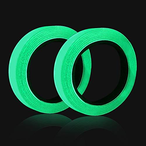 2 STK Leuchtendes Klebeband 10m x10mm Selbstklebendem Fluoreszierendes Klebeband Phosphor Klebeband Wasserdicht Markierungsband Tape