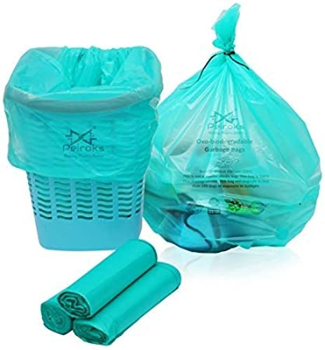 Peiroks Garbage Bags Biodegradable For Kitchen Office Medium Size 48Cmx56cm 19 Inchx22 Inch 90 Bags Green