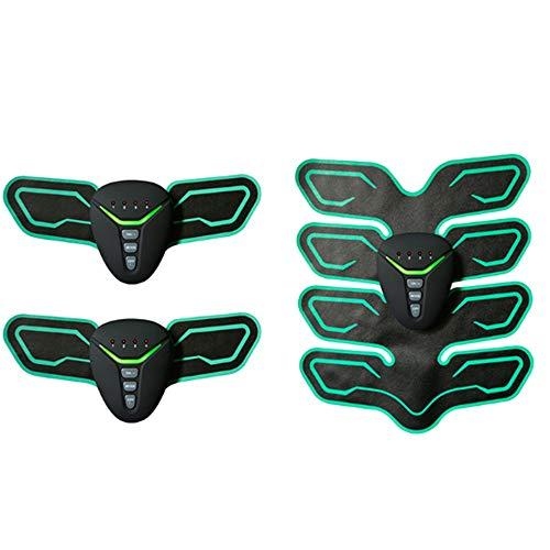 ZGZXD-EMS Muskelstimulator, Bauchmuskel-Toner-Körper-Trainingsgeräte ABS-Maschine Ab Gürtel Männer und Frauen,Green
