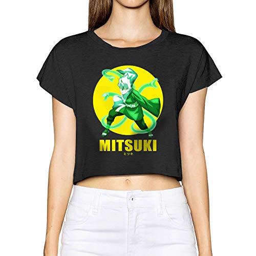 Gintamade Camisetas de manga corta para mujer Anime N-A-Ruto Mitsuki