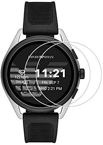 Zshion - Pellicola proteggi schermo per Emporio Armani Smartwatch 3 ART5021/ART5020/ART5023/ART5025/ART5022/ART5024, pellicola in vetro temperato antigraffio, alta definizione, confezione da 2