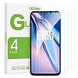 apiker [4-Unidades Cristal Templado Compatible con Oneplus 7T, Protector Pantalla para Oneplus 7T, Vidrio Templado con [9H Dureza] [2.5d Borde] [Alta Definición]