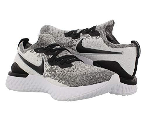 Nike Epic React Flyknit 2, Chaussures d'Athlétisme Homme, Multicolore (White/Black/Pure Platinum...
