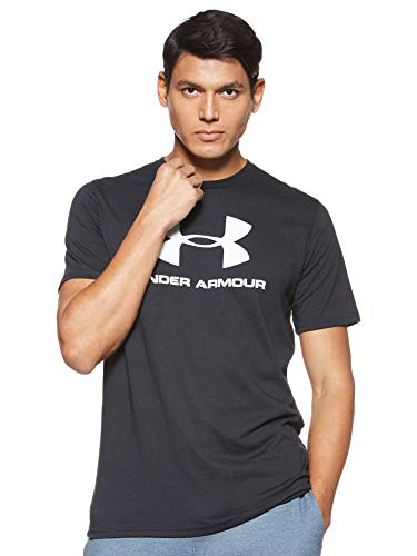 Under Armour Men's Sportstyle Logo Short-Sleeve T-Shirt , Black (001)/White , Medium