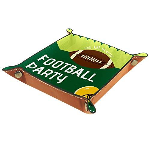 Bandeja de dados, plegable de cuero para dados, para juegos de dados, D&D y otros juegos de mesa, fútbol