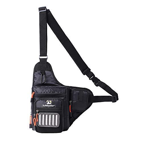 Kylebooker Fishing Tackle Storage Bags Shoulder Pack (Black)