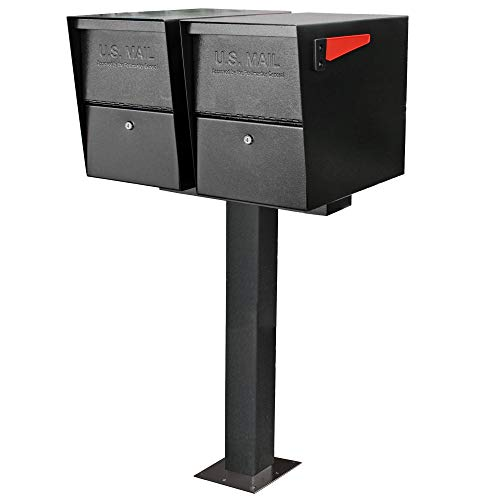 Mail Boss 7144 Box Spreader Bar for Two-Mailbox Applications, Black