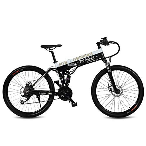 Bicicleta eléctrica plegable de 26 pulgadas, con batería de litio de 10.0...