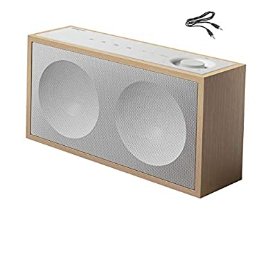 ONKYO NCP-302-B Wireless Multiroom WiFi & Bluetooth Network Speaker with Built in Chromecast/Music Apps/Aux input with lead included - Wood/White from ONKYO